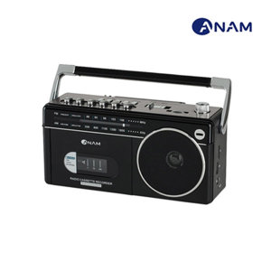 아남 블루투스 카세트 라디오 어학용 PA-720bt/블랙