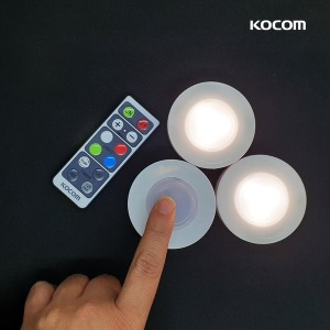 LED 터치 퍽라이트 리모컨 수유등 무드램프