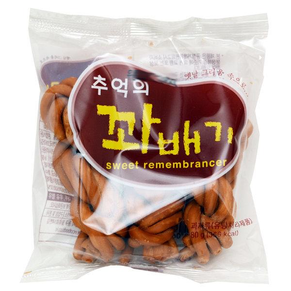 추억의 꽈배기 80g 과자/간식/스낵/오란다/강정/전병