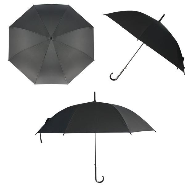 심플 자동우산 블랙색상 6개/우산 장우산