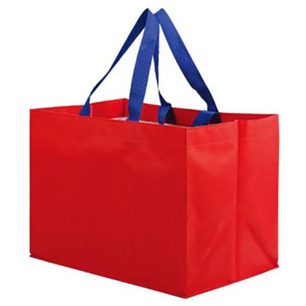대형타포린가방 레드 시장바구니 인쇄 도매 2395750