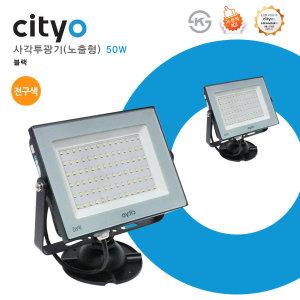 cityo 사각투광기 노출형 블랙 50W 전구색(3000K)
