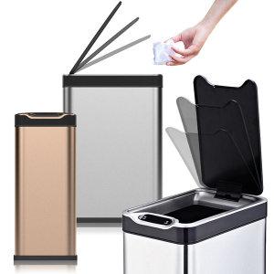 휴바트 이모션 스텐 자동 센서 휴지통 쓰레기통 20L