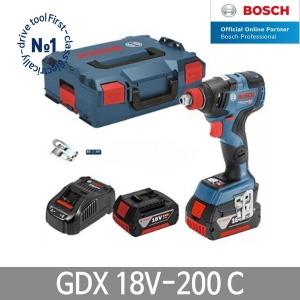 보쉬 GDX18V-200C 충전임팩렌치드라이버 6Ah배터리2개