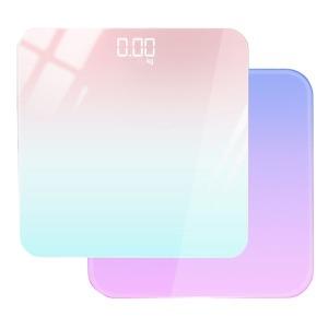 파스텔 앤 모던 LED 체중계 초경량 디지털 온도기능