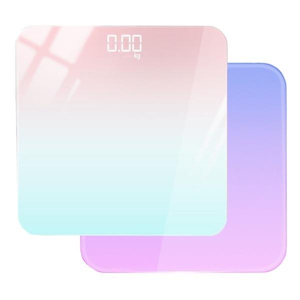 파스텔앤모던 LED 체중계 디지털온도기능 파스텔민트
