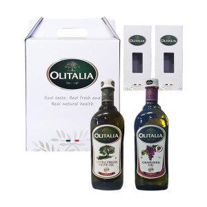 올리타리아 명절선물 올리브오일 포도씨유 1LX2P 세트