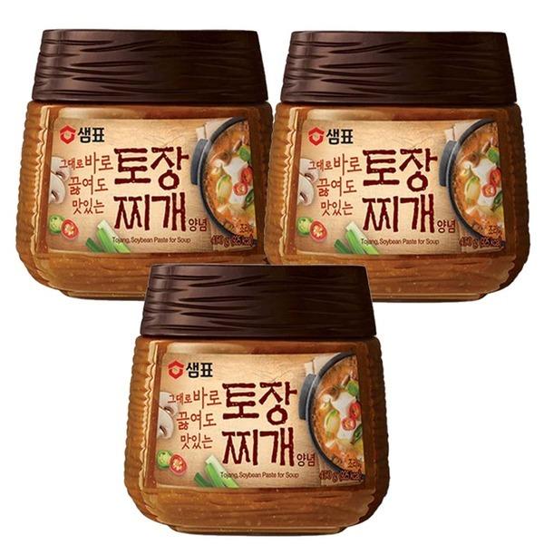 샘표 토장찌개 양념 450g 3개//된장//고추장
