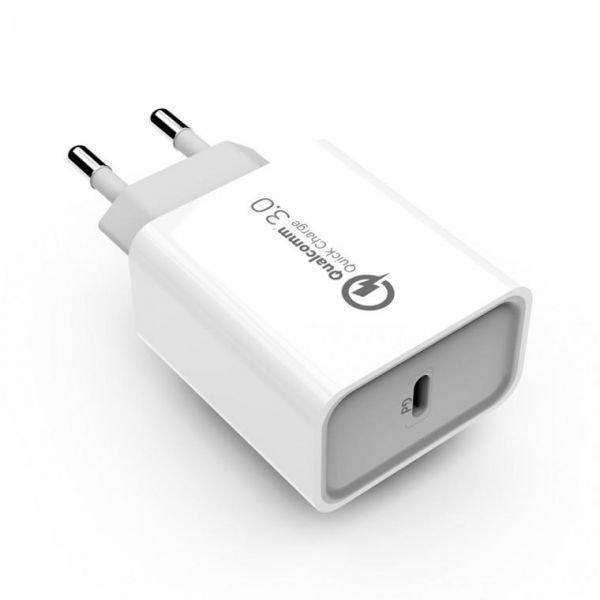 USB PD 퀵차지 C타입 고속 충전기 18W 블랙