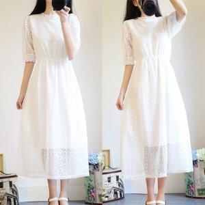 소녀감성 셀프 웨딩 드레스 원피스 6size 스  - 3XL