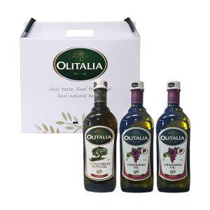 올리타리아 설 선물 올리브유1LX1 +포도씨유1LX2 세트