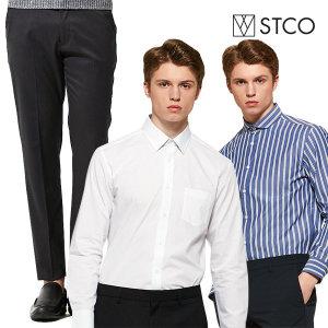 STCO 셔츠/팬츠/스트라이프/기모/수트팬츠/울