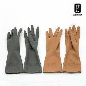 생활공작소 고무장갑 5입(그레이 베이지) M사이즈