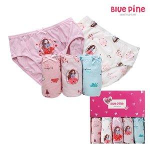 블루핀  아동속옷 거울공주 여삼각 아동팬티5종세트 유아팬티