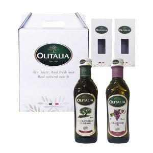 올리타리아 명절선물세트 올리브유500+포도씨유500