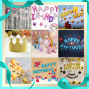 (지호) 생일파티 풍선세트/생일풍선/파티용품/이벤트
