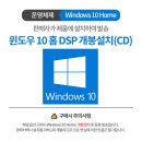Windows 10 Home DSP(CD) 설치(1회개봉)