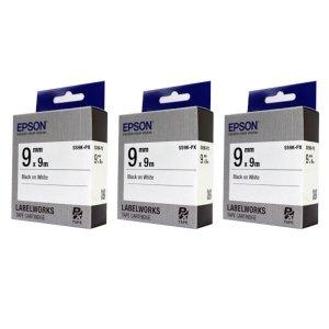 c 엡손 SS9K PX 라벨테이프 바탕흰색 글씨검정 9mm