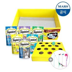 템테이션고양이간식8개+공놀이박스/스크래쳐