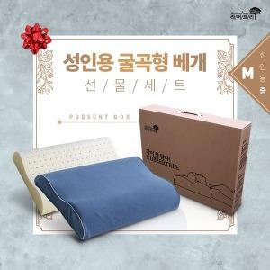 선물  천연 라텍스베개 세트 선물(성인용 중)