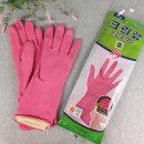 크린랩 고무장갑 es 중 (M) 분홍 1개 세탁 집안일