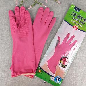 크린랩 고무장갑 es 대 (L) 분홍 1개 주방장갑