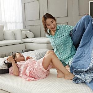 엄마품 메모리폼 토퍼매트리스 바닥 침대 3단접이식 Q