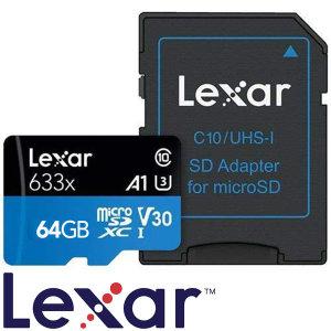 렉사 하이퍼포먼스 633x V30 마이크로SD카드 64GB