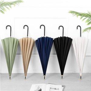 솔리드 컬러 장우산 튼튼하고 예쁜우산(9컬러)