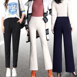 12%쿠폰 4XL 빅사이즈 날씬핏 기모바지/슬랙스
