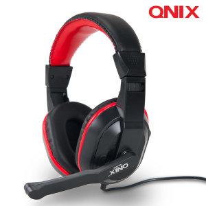 QNIX 게이밍 헤드셋 QH-3000 고감도 마이크 헤드폰