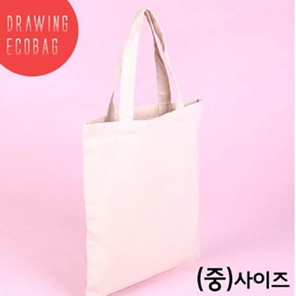 무지 캔버스백 에코백(중) 미술용품 도매 인쇄2129440