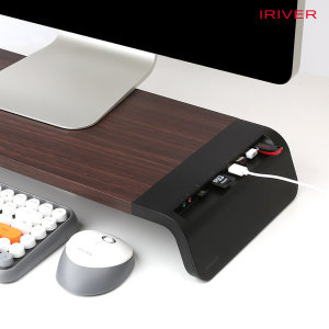 EQWEAR-MN7 USB 3.0 HUB 블랙 모니터받침대