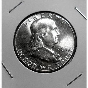 미국 1963년 프랭클린 하프달러 은화 기념주화(unc)