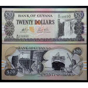남아메리카 화폐 가이아나 1996년 20달러 지폐(unc)
