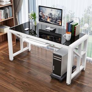 뉴아트 강화유리 책상 사무용 PC 컴퓨터 철제 게이밍