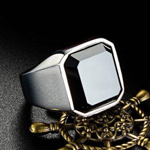 글래스 스톤 남자 반지 티타늄 써지컬스틸 검지 STR264
