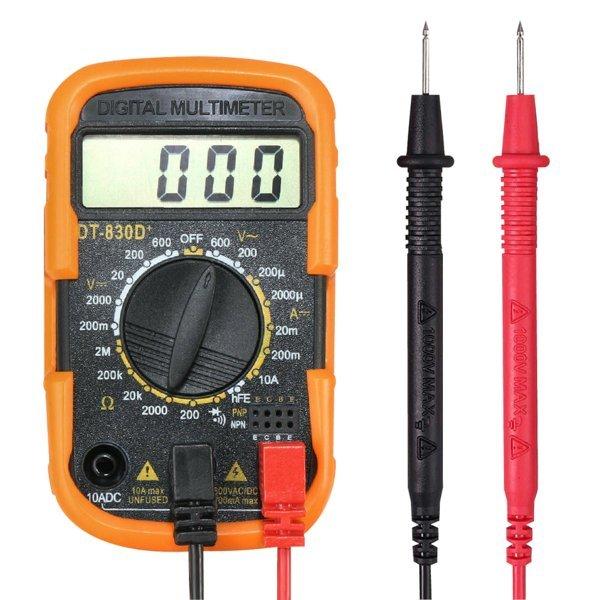 디지털 멀티미터 테스터기 전압측정기 DT-830D+