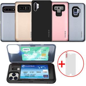 범퍼+젠더+카드3장+유리 /노트8 9 10 /갤S8 S9 S10 5G