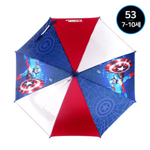 캡틴아메리카 남아 초등학생 어린이 지팡이 우산 53