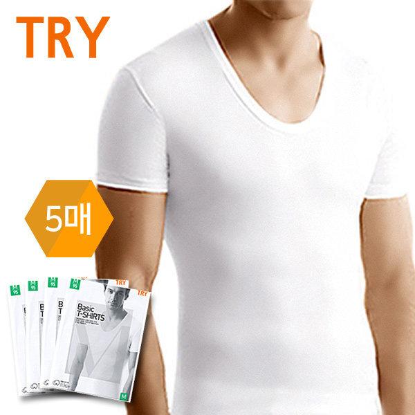 남성반팔런닝5매세트 면 남자속옷 내의 티셔츠 나시