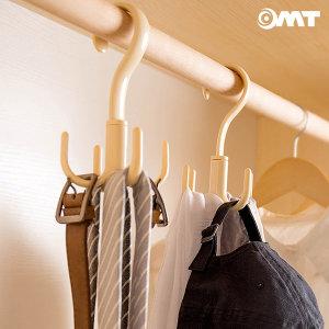 OMT 4개후크걸이 넥타이 스카프 정리 옷걸이 OSO-T129