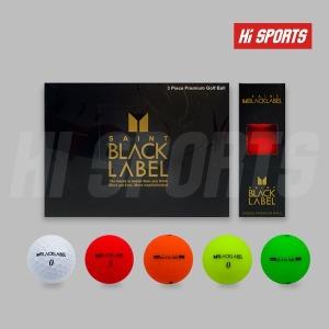 세인트 블랙라벨 3피스 12구 무광/유광 골프공 볼인쇄