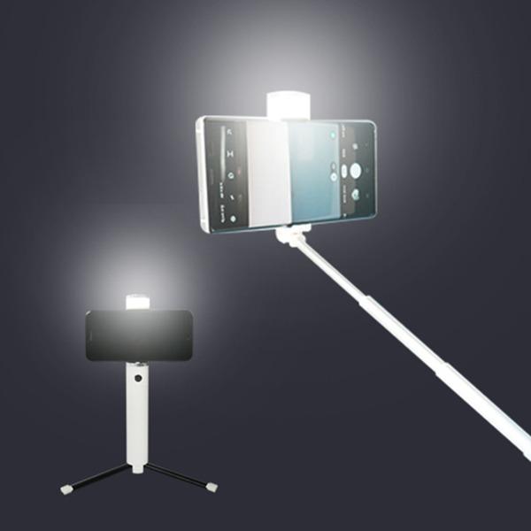 블링 LED 조명 셀카봉 블루투스 삼각대 셀카봉