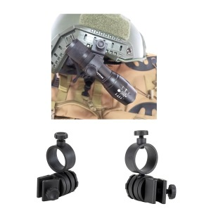 리존 360도 회전 안전모 헬멧 라이트 거치대 클립