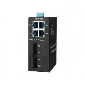 산돌 SFC300-SCS2 산업용 싱글TP 4포트+ 광 2