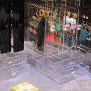 복합형 3단형 투명서랍 귀걸이 반지 악세사리 보관함