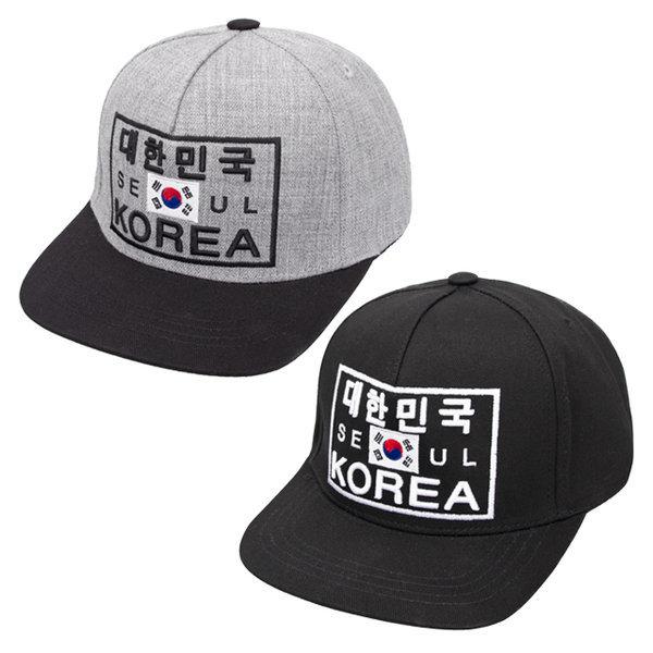 대한민국 코리아 자수 스냅백 서울 태극기 볼캡