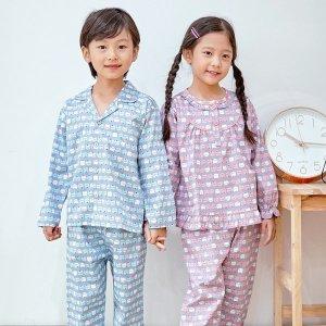 토토와모모 아동 잠옷 면 파자마 초등 키즈 남아 여아 /모모(순면)