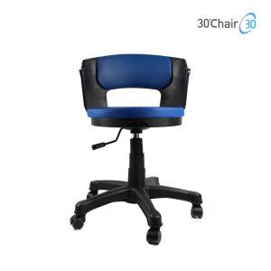 삼공체어 요추등받이의자 책상의자 블랙 WB-360블루